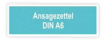 Ansagezettel A6