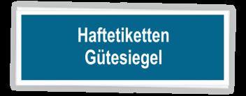 """Etiketten """"Gütesiegel Schornsteinfeger"""""""
