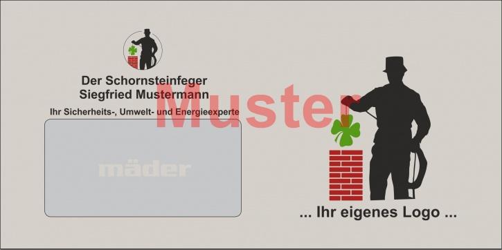 """Briefumschläge DIN Lang Recycling """"eigenes Design"""" Farbdruck / 1-seitig"""