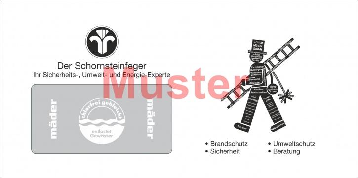 """Briefumschläge DIN Lang """"eigenes Design"""" schwarz / einseitig"""