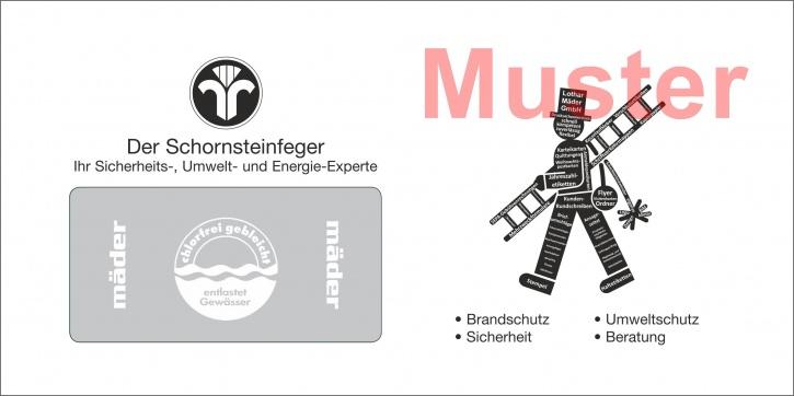 """Briefumschläge DIN Lang """"eigenes Design"""" schwarz / 2-seitig"""