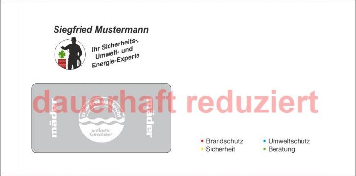 """Briefumschläge DIN Lang """"eigenes Design"""" 4-farbig / 2-seitig"""