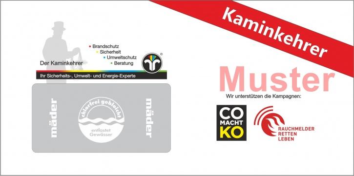 """Briefumschläge DIN Lang """"Rauchmelder & CO"""" mit Dienstleistungsmarke """"Kaminkehrer"""""""