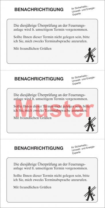 """Postkarte """"Benachrichtigung"""""""