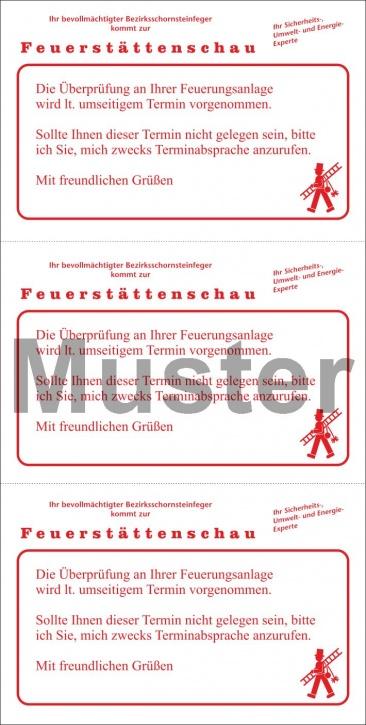 """Postkarte """"Benachrichtigung Feuerstättenschau"""""""
