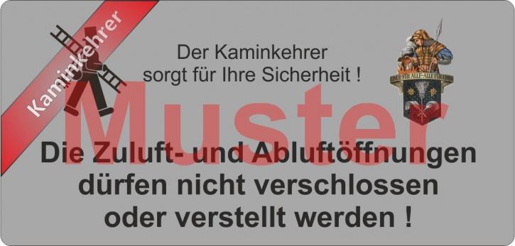 """Haftetiketten PET Zuluft..."""" - Emblem Florian - """"Kaminkehrer"""""""