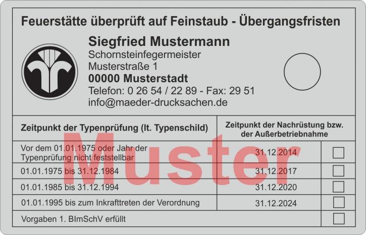 """Große Haftetiketten """"Feinstaub-Übergangsfristen"""" PET-Folie, mit Logo"""