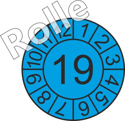 """Jahreszahl - Etiketten """"2019"""" auf Rolle"""