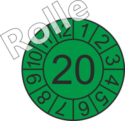 """Jahreszahl - Etiketten """"2020"""" auf Rolle"""