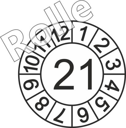 """Jahreszahl - Etiketten """"2021"""" auf Rolle"""