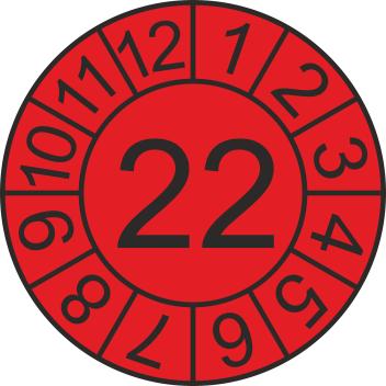 """Jahreszahl - Etiketten """"2022"""" auf Blatt"""