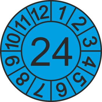 """Jahreszahl - Etiketten """"2024"""" auf Blatt"""