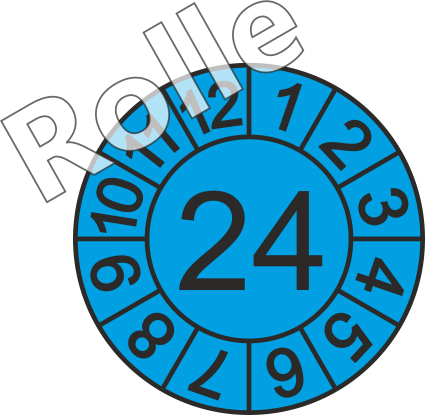 """Jahreszahl - Etiketten """"2024"""" auf Rolle"""