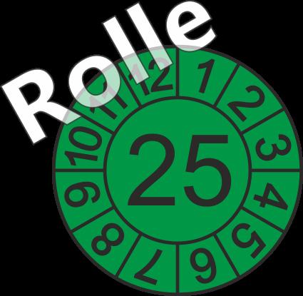"""Jahreszahl - Etiketten """"2025"""" auf Rolle"""