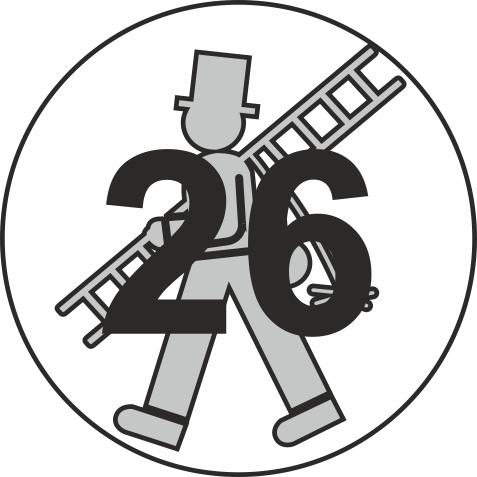 """Jahreszahl - Etiketten """"2026"""" auf Blatt """"Feger"""""""