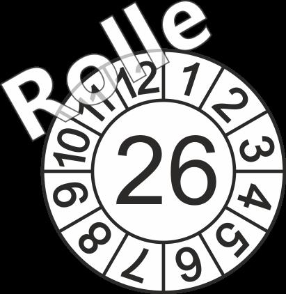 """Jahreszahl - Etiketten """"2026"""" auf Rolle"""