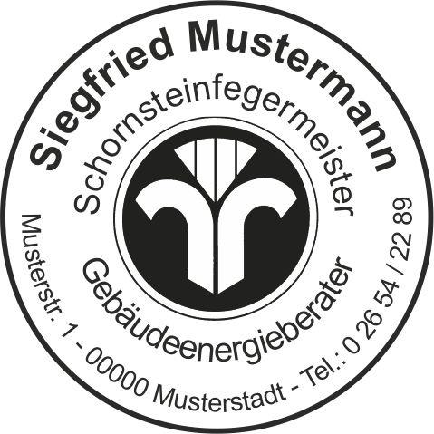 """Stempelplatte  """" RUND """" mit Emblem"""