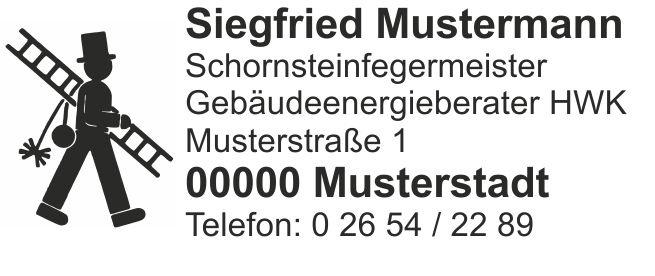 """Holzstempel, Emblem """"Feger"""" bis 7 Zeilen"""