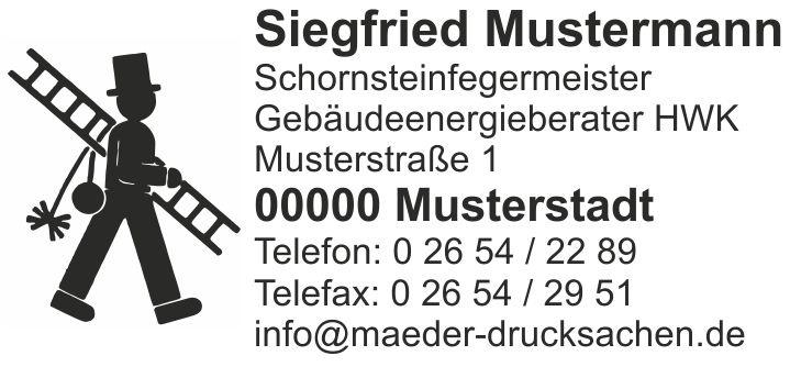 "Printy 4928, Emblem ""Feger"" ab 6 Zeilen"