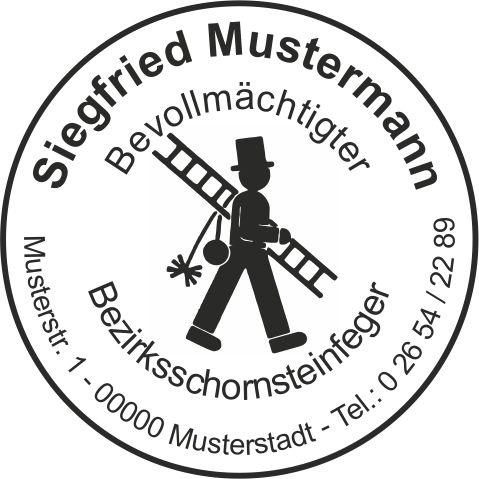 """Holzstempel, Emblem """"Feger""""  RUND"""