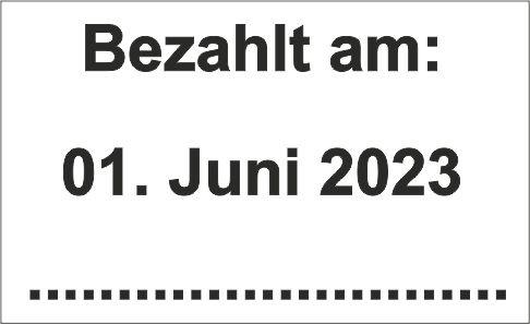 """Printy-Dater 4750 """"Bezahlt am: und Datum"""""""