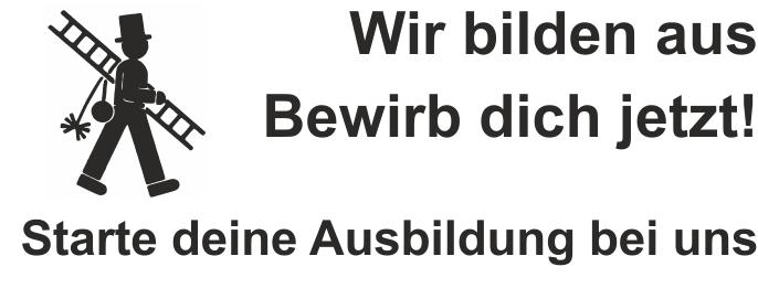 """Printy 4913, """"Wir bilden aus"""" bis 6 Zeilen"""