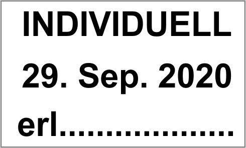 """Printy-Dater 4750 """"individuelle Textzeile und Datum"""""""