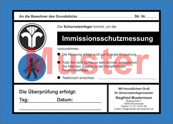 """AZ 2-farbig """"Immissionsschutzmessung"""" - DIN A5, mit Firmeneindruck"""