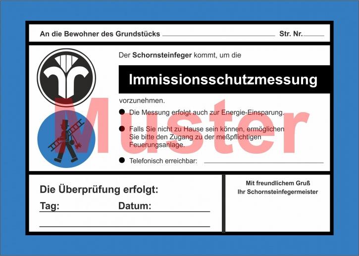 """AZ 2-farbig """"Immissionsschutzmessung"""" - DIN A5, ohne Firmeneindruck"""