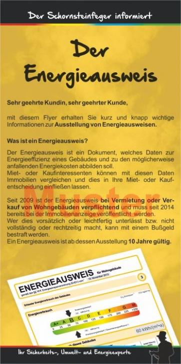 """Kompakt-Flyer """"Energieausweis"""", ohne Firmeneindruck"""