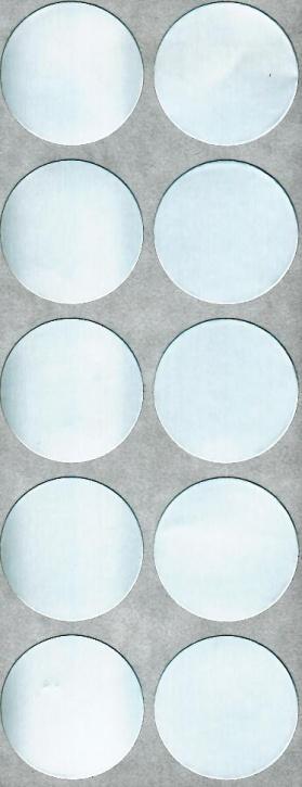 Verschlussetiketten ALU, 30 mm, hitzbeständig bis 90°