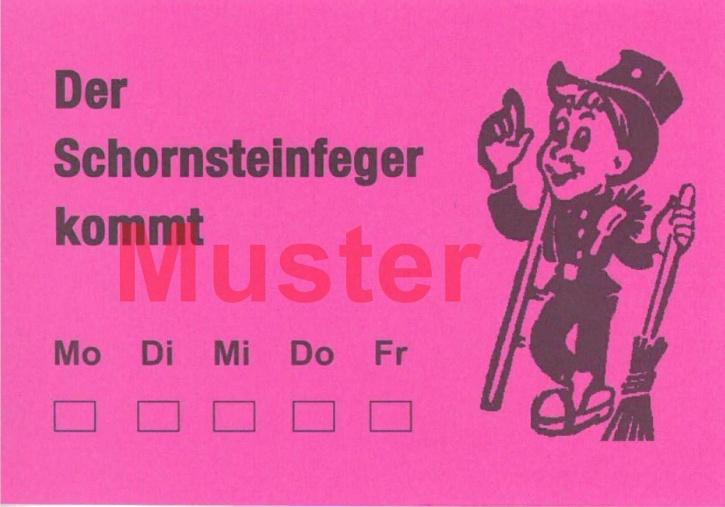 """AZ DIN A7 """"Der Schornsteinfeger kommt"""" - Rosa"""
