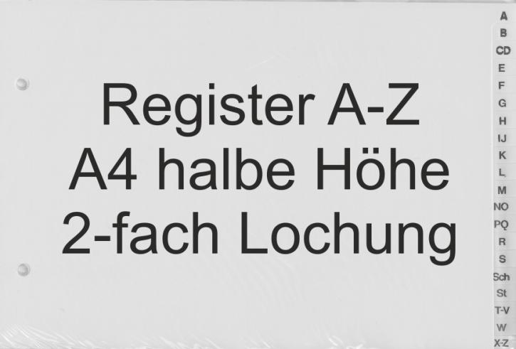 Register Buchstaben A-Z