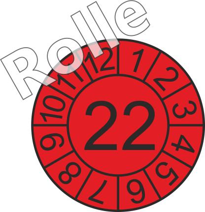"""Jahreszahl - Etiketten """"2022"""" auf Rolle"""