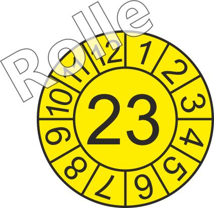 """Jahreszahl - Etiketten """"2023"""" auf Rolle"""