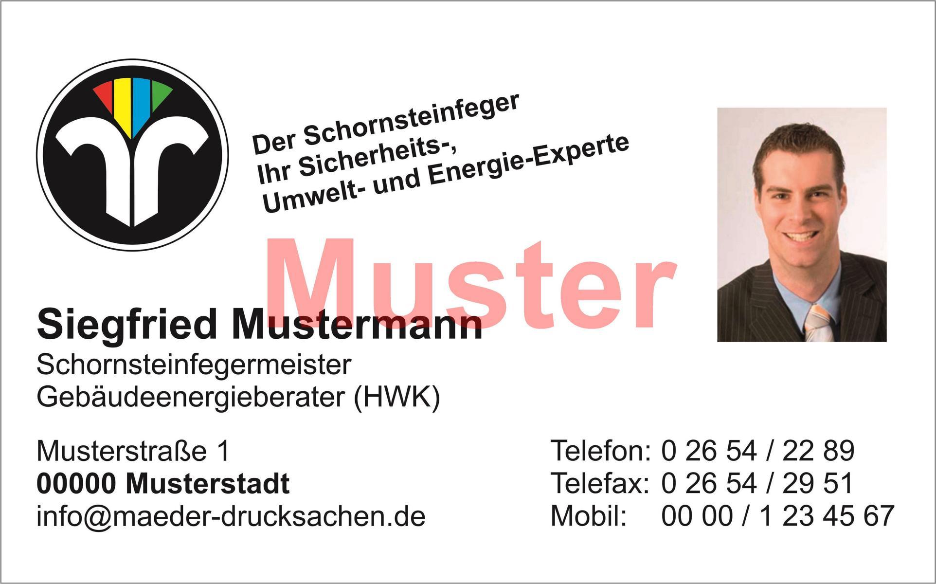 "Visitenkarten ""Der Schornsteinfeger """