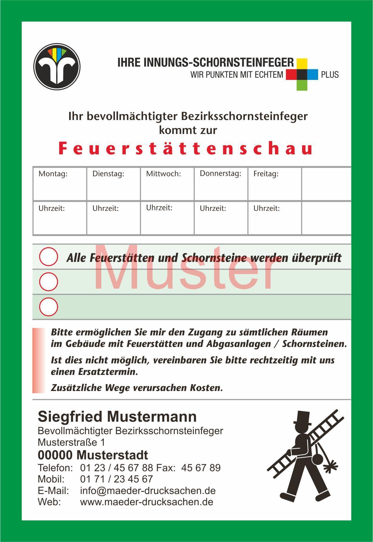 Feuerstättenschau Rechnung : az feuerst ttenschau din a6 innungsfeger mit streifengummierung mit firmeneindruck 60615 ~ Themetempest.com Abrechnung