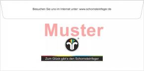 """Briefumschläge DIN Lang mit Dienstleistungsmarke """"Schornsteinfeger"""""""