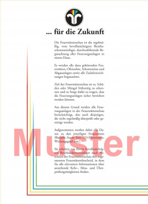 "Schriftverkehrmappen / Kundenmappen ""Feuerstättenschau"""